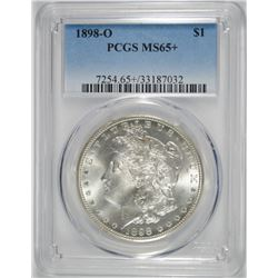 1898-O MORGAN DOLLAR PCGS MS65+