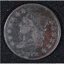 1812 LARGE CENT F-VF