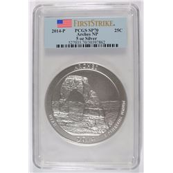 2014 (5 OZT .999 FS) ARCHES PCGS SP-70 (FIRST STRIKE)