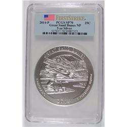 2014 ( 5 OZT .999 FS) GREAT SAND DUNES PCGS SP-70 (FIRST STRIKE)