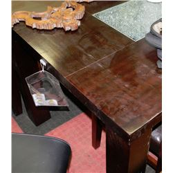 kitchen table with crackled glass insert