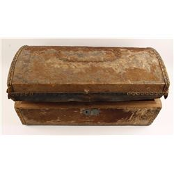 Antique Hide Wrapped Trunk