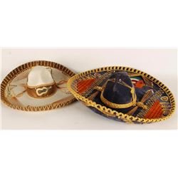 Lot of 2 Large Sombreros