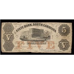 State Bank of South Carolina $5 Bill