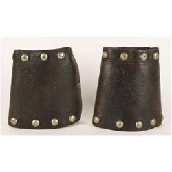 Pair of Very Large Los Angeles Saddlery Cuffs