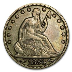 1854 Liberty Seated Half Dollar w/Arrows XF