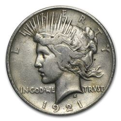 1921 Peace Dollar VF