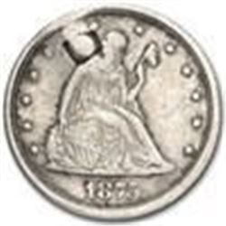 1875-S Twenty Cent Piece AU