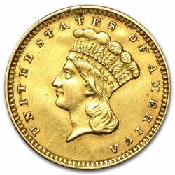 $1 Indian Head Gold Type 3 Around 140 Years Old Minted Between 1856-1889