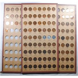 LINCOLN  CENT SET 1909-1960 COMPLETE DISPLAYED IN THREE DATED COIN BOARDS