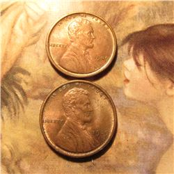 1909 P & 1909 P VDB Lincoln Cents. Red-Brown Uncirculated. Red Book Value $50.00.