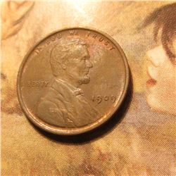 1909 P Lincoln Cent. Choice Brown Unc.