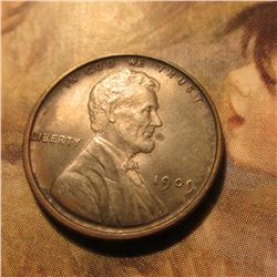 1909 P VDB Lincoln Cent. Choice Brown Uncirculated. Book value $30.00.