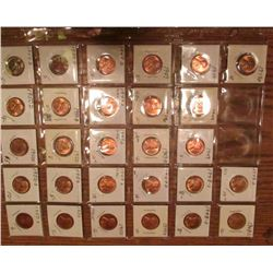 1948D, (4) 48S, (4) 49P, (5) 49D, (3) 49S, (4) 50P, (4) 50D, & (3) 50S Lincoln Cents. All Red Unc to
