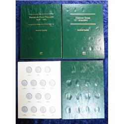Littleton Archival Quality Coin Folders. Used. Mercury Dimes 1916-45; Franklin Half Dollars 1948-196