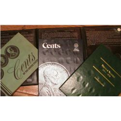 Whitman Cents blue folder; Buffalo Nickels 1913-1938 Archival Quality Littleton Coin folder; Meghrig