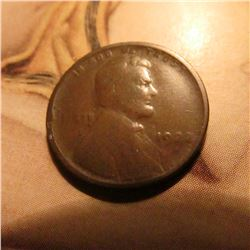 1922 Weak D Lincoln Cent. Good. Book value $30.00.