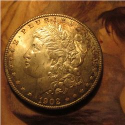 1902 O Morgan Dollar lightly toned Uncirculated.