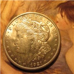 1921 S Morgan Silver Dollar. Brilliant Unc.