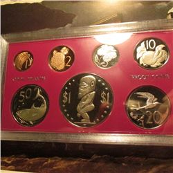 1972 7-piece Cook Islands Proof Set with the Dollar Coin, which depicts the Fertility God with large