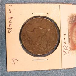 1824 U.S. Large Cent. Good with rim bumps.