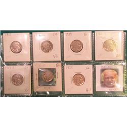(7) Different Buffalo Nickels 1915-1935 grading AG to AU. Originally priced to sell at $42.00.
