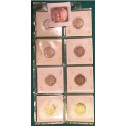 (8) Different Buffalo Nickels 1915-1935 grading G to EF. Originally priced to sell at $34.00.