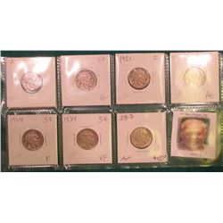(7) Different Buffalo Nickels 1917-1938 grading AG to AU. Originally priced to sell at $42.00.