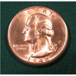 1946 S Washington Quarter. Gem BU 65.