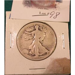 1918 P Walking Liberty Half Dollar. Good.