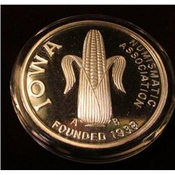 1938 2008 70 Years INA Convention Ottumwa October 11 & 12m 2008 One Ounce Proof .999 Fine Silver Med