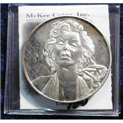 """Marilyn Monroe 1926-1962 Limited Edition One Troy Oz. .999FS."