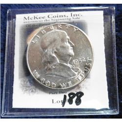 1952 P Franklin Half-Dollar. Brilliant Unc.