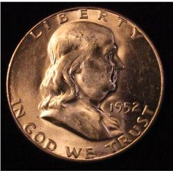 1952 S Franklin Half-Dollar. Brilliant Unc.