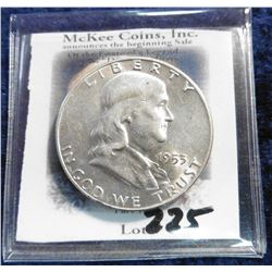 1953 D Franklin Half-Dollar. Brilliant AU.