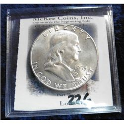 1953 D Franklin Half-Dollar. Brilliant Unc.