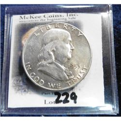 1953 D Franklin Half-Dollar. Unc.