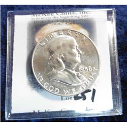 1958 D Franklin Half-Dollar. Brilliant Uncirculated.