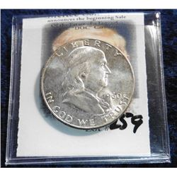 1960 P Franklin Half-Dollar. Brilliant Uncirculated.