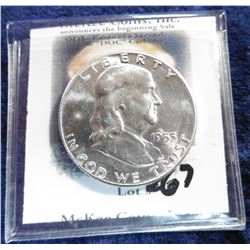 1953 P Franklin Half-Dollar. Brilliant Uncirculated.