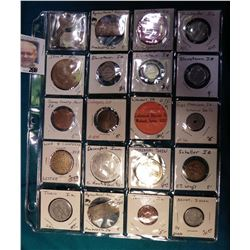 (20) Various Tokens, Good fors, Medals, and etc. most from Iowa. Includes Ackley, Akron, Coralville,