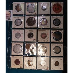 (24) Various Tokens, Good fors, Medals, and etc. from Iowa. Includes New Hampton, Carpenter, Elgin,