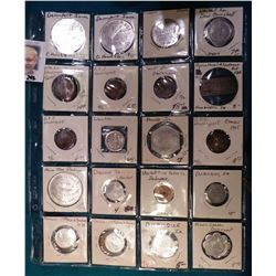 (20) Various Tokens, Good fors, Medals, and etc. from Iowa. Includes Davenport, Turin, Newhall, Humb