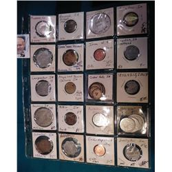 (27) Various Tokens, Good fors, Medals, and etc. most from Iowa. Includes Minburn, Decorah, Lorimor,