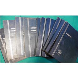 (10) Various blue Whitman folders. Most appear to be used. Includes U.S. Half-Dollars & Dollars in t