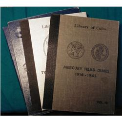 (2) 1949- Washington Head Quarter folders made by Harris; Part 2 Type Set of U.S. Coins Quarters to
