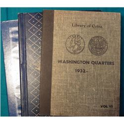 Franklin-Kennedy Half-Dollar Harris Coin folder; 1948-1963 Franklin Halves Whitman Coin album; & Lib