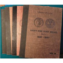 "(4) Used Library of Coins albums. Includes ""Peace Type Silver Dollars 1921-1935, General Album Nicke"