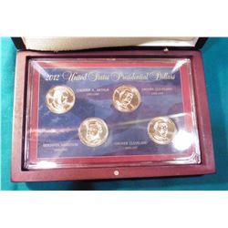 2012 U.S. Presidential Four-piece Dollar Set in hardwood case.