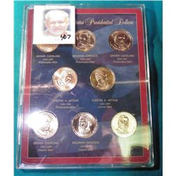 2012 U.S. Presidential Eight-piece Dollar Set in hard plastic case.